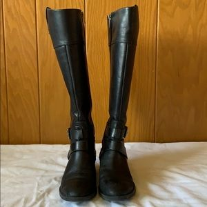 Vince Camuto Tall Riding Black Boots Size 6